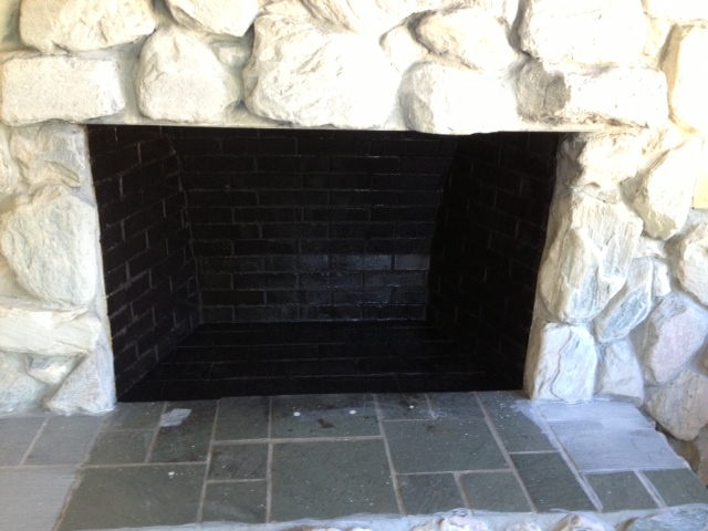 Paint For Inside Of Fireplace Fireplace Revamp  Connell Concoctions